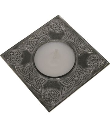 "Square Celtic Tea Light Celtic Candle Holder 7.5cm (3"")"