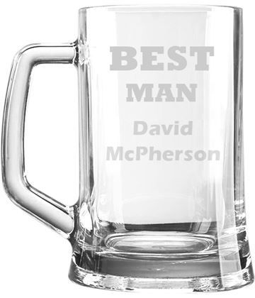 "Best Man Personalised 1pt Plain Glass Tankard 15cm (6"")"