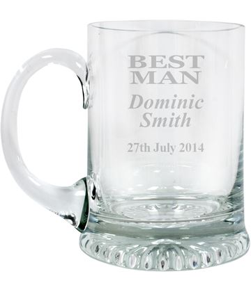 "Best Man Personalised 3/4pt Lead Crystal Star Base Tankard 13cm (5.25"")"