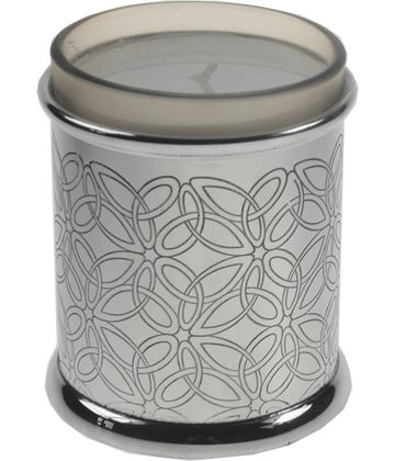 """Pewter Triquetra Candle Votive and Candle 9cm (3.5"""")"""