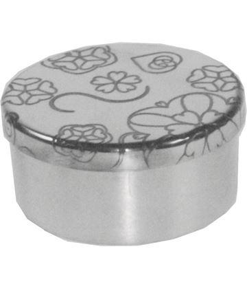 "Rose Round Trinket Box 5cm (2"")"