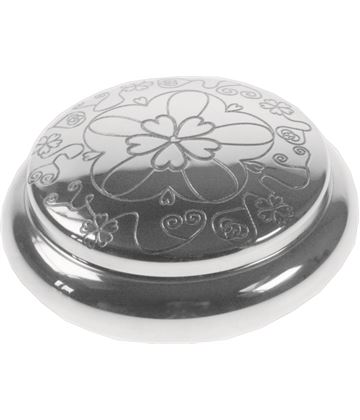 "Pewter Georgian Trinket box with a Rose Pattern 8.5cm (3.25"")"