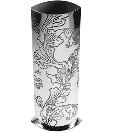 "Pewter Bud Vase with Acanthus Pattern 25cm (9.75"")"