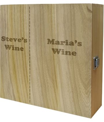 "His & Mostly Hers Triple Wine Box 35cm (13.75"")"