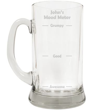 "Mood Meter Novelty Large 2pt Glass Tankard 19.5cm (7.5"")"