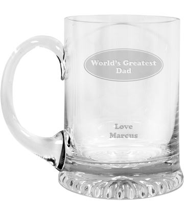 "World's Greatest Dad Crystal Star Base Tankard 3/4pt 13cm (5.25"")"
