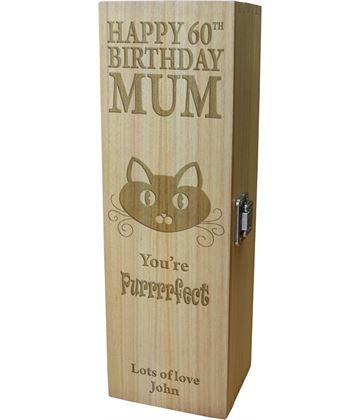 "Happy Birthday Wine Box - You're Purrfect 35cm (13.75"")"