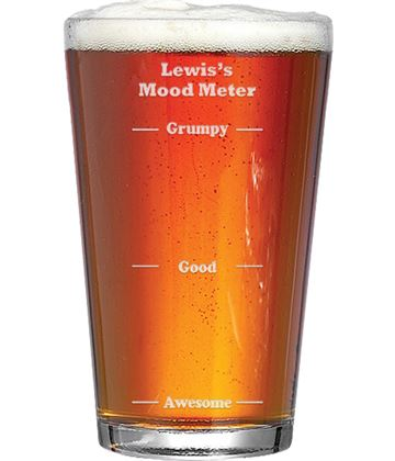 "Mood Meter Feeling Awesome Personalised Pint Glass 15cm (6"")"