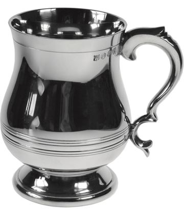 "Extra Heavy Georgian Style 1pt Sheffield Pewter Tankard 12.5cm (5"")"