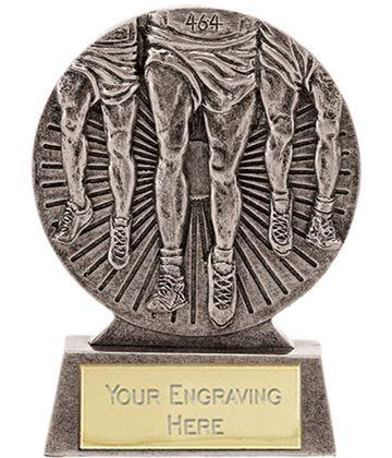 "Antique Silver Athletics Running Trophy 8.5cm (3.25"")"