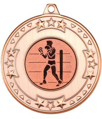 """Bronze Star & Pattern Medal 50mm (2"""") with 1"""" Boxing Centre Disc"""