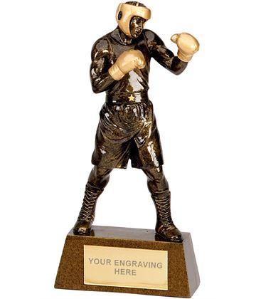 """Antique Gold Boxing Trophy 18.5cm (7.25"""")"""