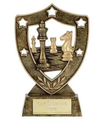 "Chess Multi Star Shield Trophy 15cm (6"")"