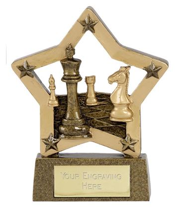 "Antique Gold Chess Star Award 12.5cm (5"")"