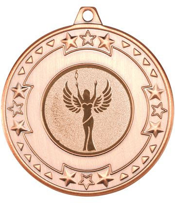 """Bronze Star & Pattern Medal with 1"""" Achievement Centre Disc 50mm (2"""")"""