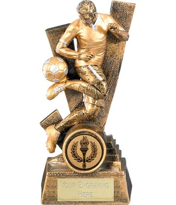 """Trident Male Football Player Trophy 24cm (9.5"""")"""