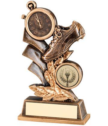 """Antique Gold Athletics Leaf Plaque Trophy 14.5cm (5.75"""")"""