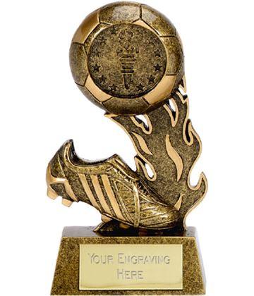 """Resin Ball & Boot Football Scorcher Trophy 9.5cm (3.75"""")"""