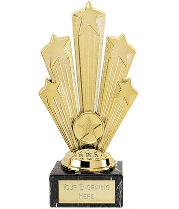 """Star Supreme Trophy On Marble Base Gold 18.5cm (7.25"""")"""