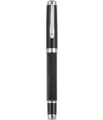 "Black Carbon Fibre Finish Roller Ball Pen 14cm (5.5"")"