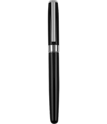 "Black & Silver Roller Ball Pen 14cm (5.5"")"