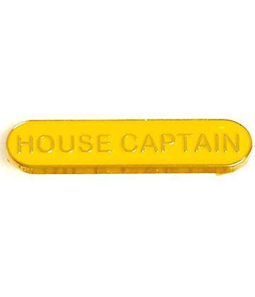 House Captain Lapel Bar Badge Yellow 40mm x 8mm