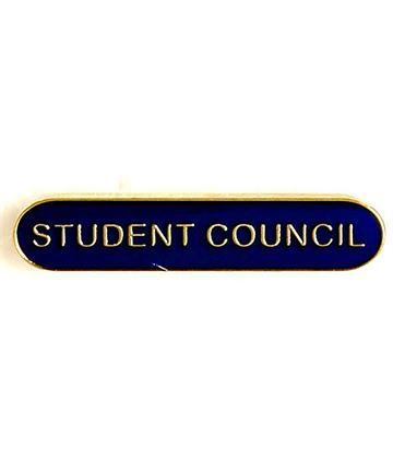 Student Council Lapel Bar Badge Blue 40mm x 8mm