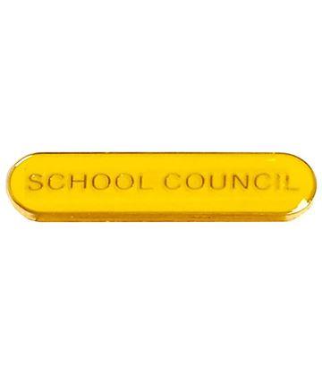 School Council Lapel Bar Badge Yellow 40mm x 8mm