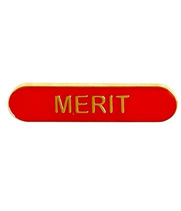 Merit Lapel Bar Badge Red 40mm x 8mm