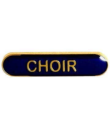 Choir Lapel Bar Badge Blue 40mm x 8mm