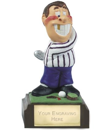 "Hacker - Novelty Hand Painted Golf Figure 10cm (4"")"