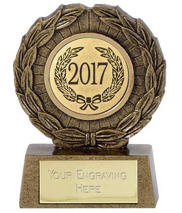 "2017 Resin Mini Star Laurel Wreath Trophy 6.5cm (2.5"")"