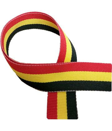 """Black, Yellow and Red Medal Ribbon 76cm (30"""")"""