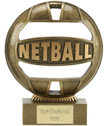 "The Ball Netball Trophy 14.5cm (5.75"")"