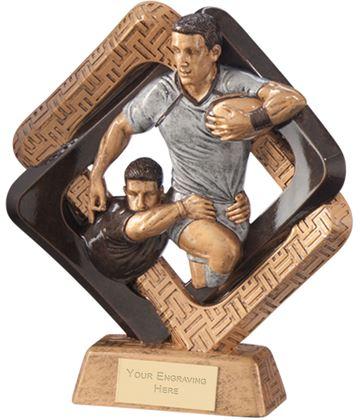 "Sporting Unity Rugby Award 16.5cm (6.5"")"