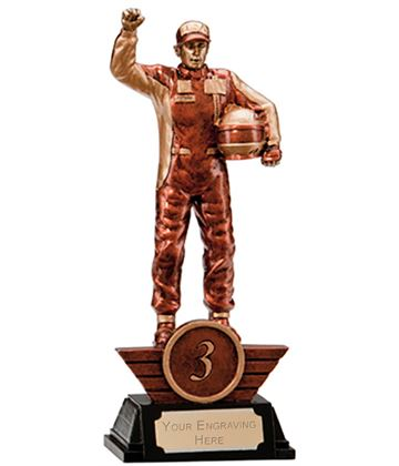"3rd Place Resin Motorsport Podium Figure Trophy 17.5cm (6.75"")"