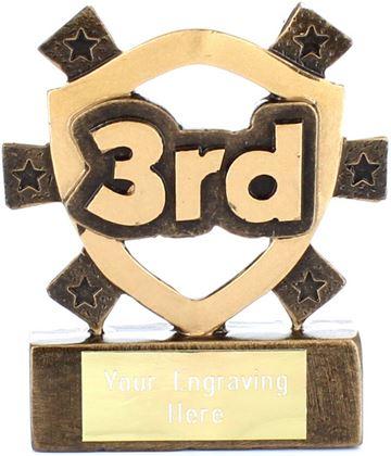 "3rd Place Mini Shield Award 8cm (3.25"")"