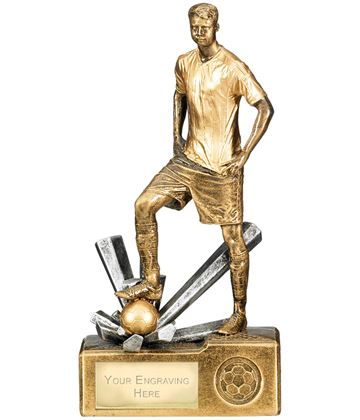 "Male Football Krypton Trophy 23cm (9"")"