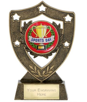 "Sports Day Shield Stars Trophy 12.5cm (5"")"