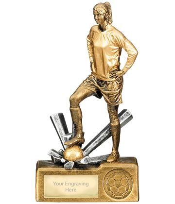 "Female Football Krypton Trophy 18cm (7"")"