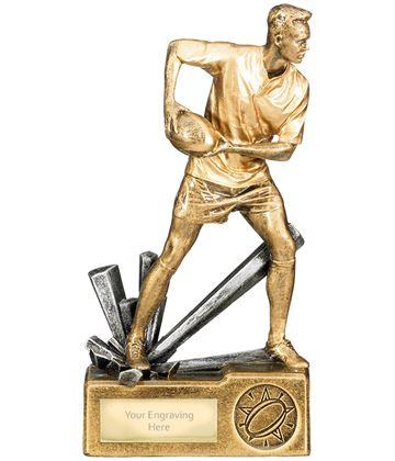 """Male Rugby Krypton Trophy 19cm (7.5"""")"""