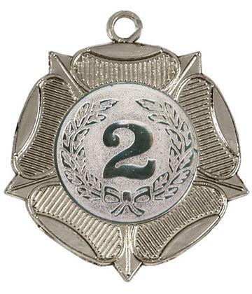 "Tudor Rose 2nd Place Silver Medal 50mm (2"")"