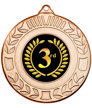 """Bronze 3rd Place Wreath Medal 50mm (2"""")"""