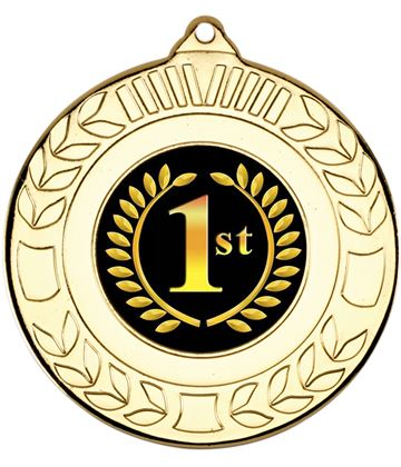 """Gold 1st Place Wreath Medal 50mm (2"""")"""