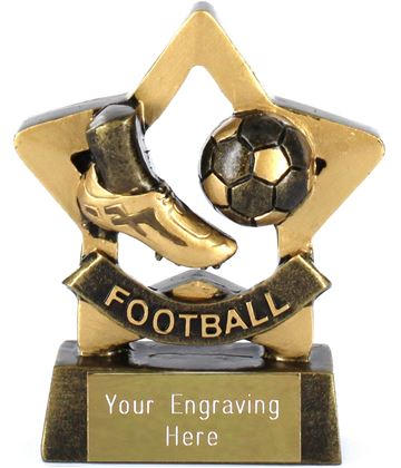 "Mini Stars Football Award Trophy 8.5cm (3.25"")"