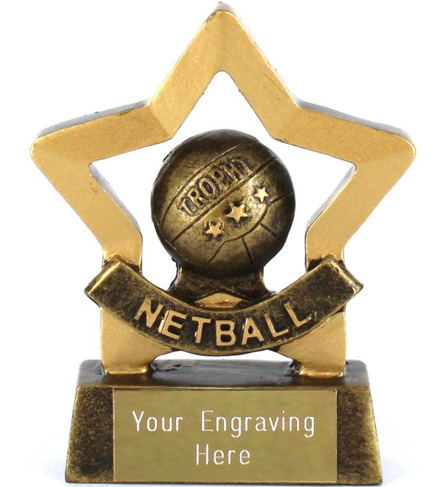 "Mini Stars Netball Trophy Award 8.5cm (3.25"")"