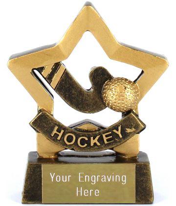 "Mini Stars Hockey Award of stick and ball 8.5cm (3.25"")"
