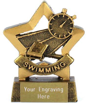 """Mini Stars Swimming Trophy Award 8.5cm (3.25"""")"""
