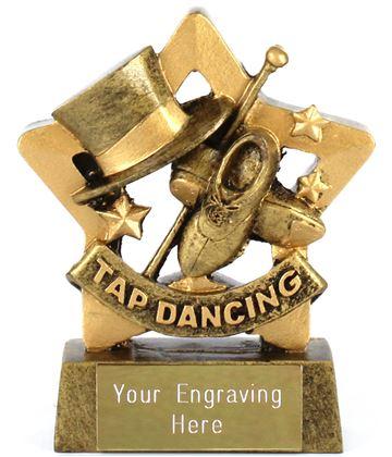 "Mini Stars Tap Dancing Award 8.5cm (3.25"")"