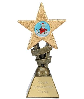 "Christmas Star Trophy 14cm (5.5"")"